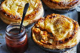 Pepperpot pork pies. Photo: William Meppem